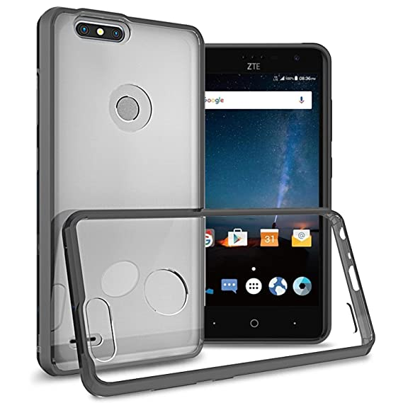 ZTE Blade Z Max Case, ZTE ZMax Pro 2 Case, ZTE Sequoia Case, CoverON  ClearGuard Series Hard Slim Fit Cover with Clear Back and Flexible TPU  Bumpers
