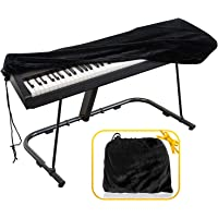 Piano Keyboard Cover, Premium Stretchable Velvet Digital Piano Dust Cover with Storage Bag, Compatible with Most 76-88…
