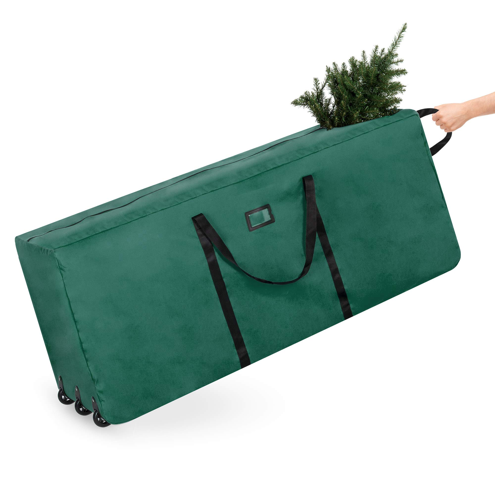 Best Choice Products 600D Polyester Rolling Duffel Storage Bag for Up To 9ft Christmas Tree w/Handle, Green by Best Choice Products