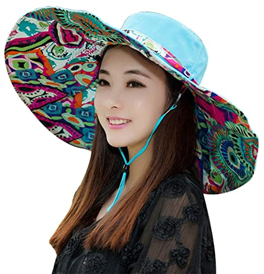 d69bf7c2c4f Womens Large Brimmed Garden Beach Big Summer Sun Hat