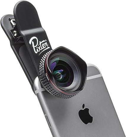 pixter- Objetivo Gran Angular Pro – pixter-grandangle- 100 °-Compatible con Todos Smartphones- Optica Alta Transparence- Anti Reflet- Resistente Golpes y Rayures- 5 Blandas en 4 Grupos: Amazon.es: Electrónica