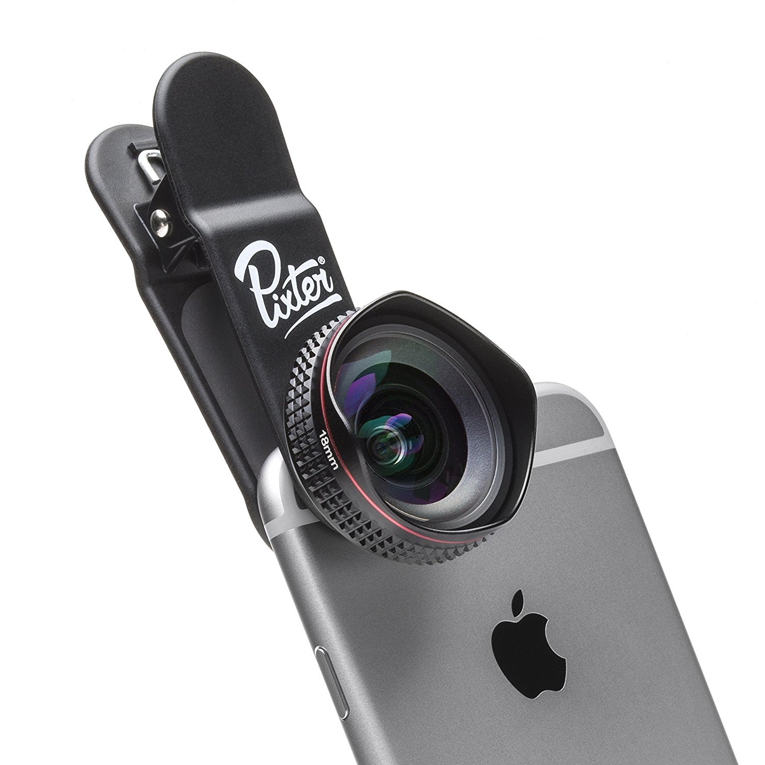 Pixter Wide Angle Pro Lens 0,5X, Compatible All Smartphones, Androïd and iOS: iPhone 5, 6, 6S, 7, 7 Plus, 8, 8 Plus, X/Samsung S6, S6 Edge, S7, S7 Edge, S8, S8 Plus, S9, S9 Plus/Huawei/Sony by Pixter