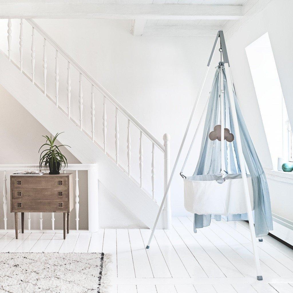 Leander Wiege weiß mit Matratze und Deckenhaken product image