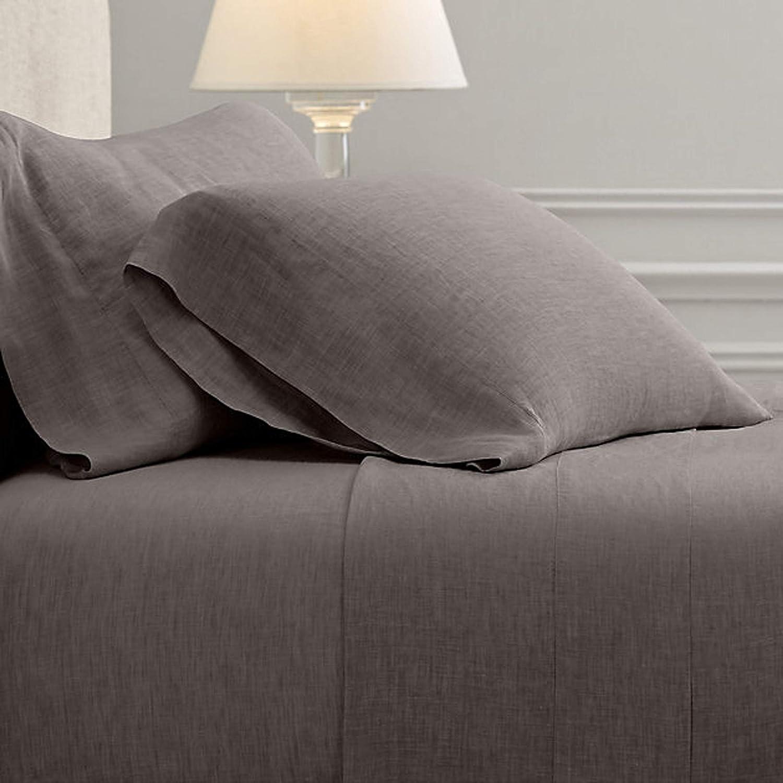 100/% Linen Sheet Set King Grey