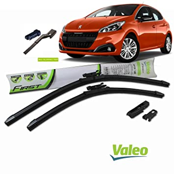 Valeo_group Valeo Juego de 2 escobillas de limpiaparabrisas Especiales para Peugeot 208 | 650/400 mm |: Amazon.es: Coche y moto