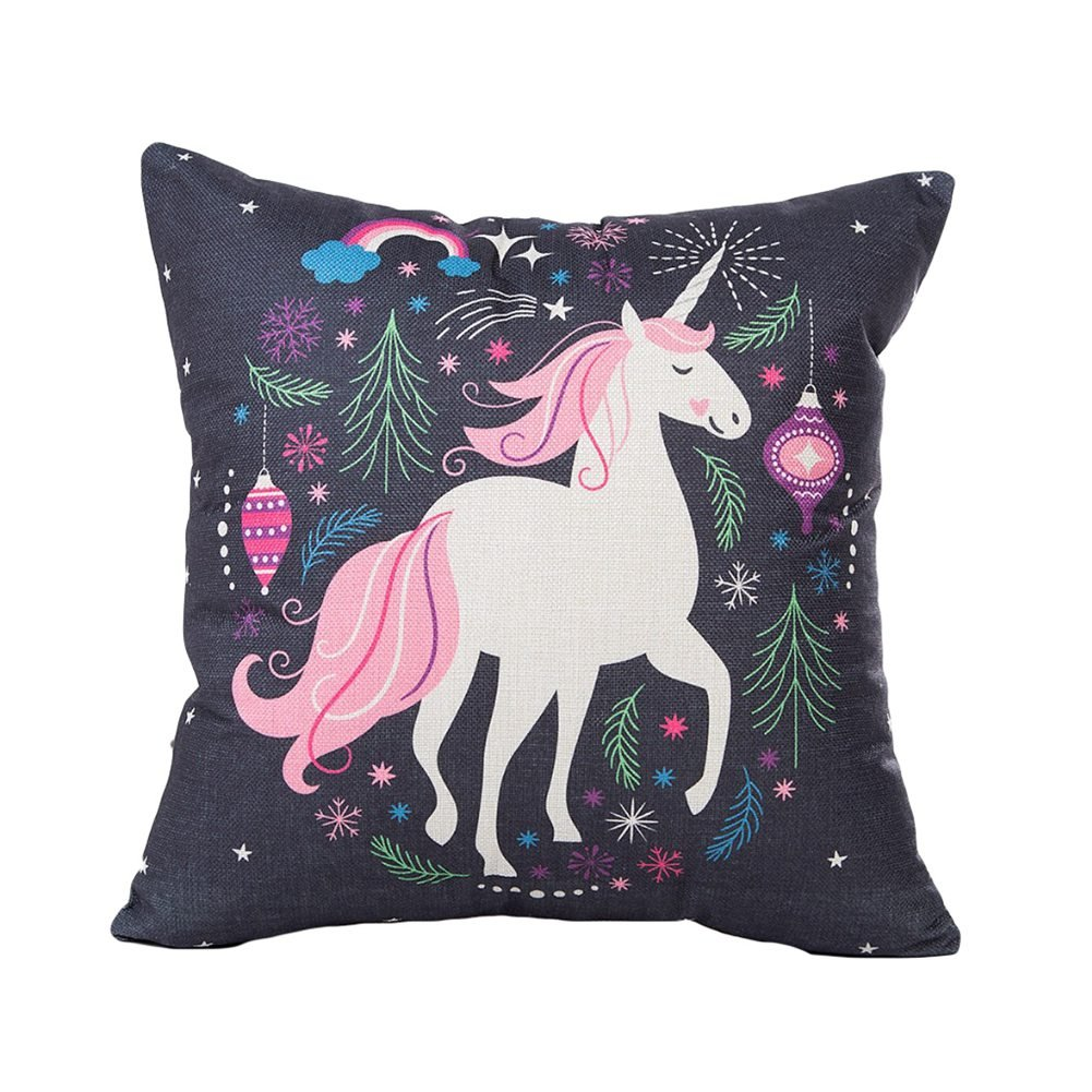 Amazon.com: Mwfus Bedroom Sofa Black Super Soft Unicorn ...