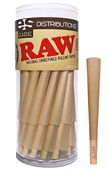 b5d390845fb67 RAW Cones Classic King Size   50 Pack   Natural Pre Rolled Rolling Paper  with Tips & Packing Sticks Included