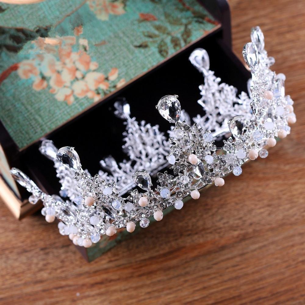 Vintage High-end bridal Crown Bridal Jewelry boutique headdress handmade crystal wedding decoration Large circle