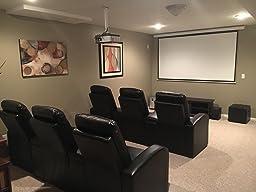Amazon Com Flash Furniture 3 Seat Black Leather Home