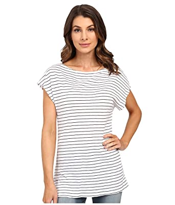 6689ee0e Splendid Women's Striped Boatneck Tunic Tee, Blue Glass X-Small