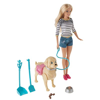 Barbie Walk & Potty Pup, Blonde: Toys & Games