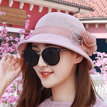 ERLINGSAN-MZ Sombrero Mujer Primavera Verano Sol Sombreros De Placer Viajes  Plegables Protector Solar Sombrero De Pesca Al Aire Libre Gorra Rosa   Amazon.es  ... 1ce173a4a16