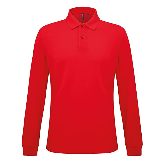 9c3fe84e6 Asquith Fox Mens Classic Fit Long Sleeved Polo Shirt (3XL) (Classic Red)