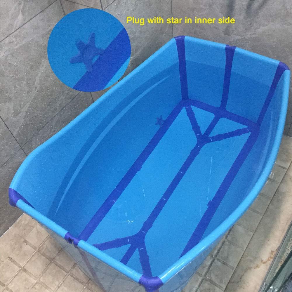 Weylan Tec Large Foldable Bath Tub Bathtub For Adult Children Baby Toddler Blue by Weylan Tec (Image #8)