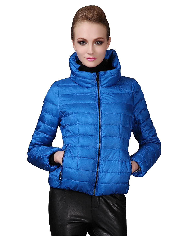 172d97a18448 Amazon.com  Maxchic Women s Pillow Neck Sleek Short Puffer Jacket Down Coat  Q19876Y15C