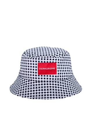 b6c0b694923c0 Calvin Klein Jeans Men's Reversible Bucket Hat Black with Checked Interior