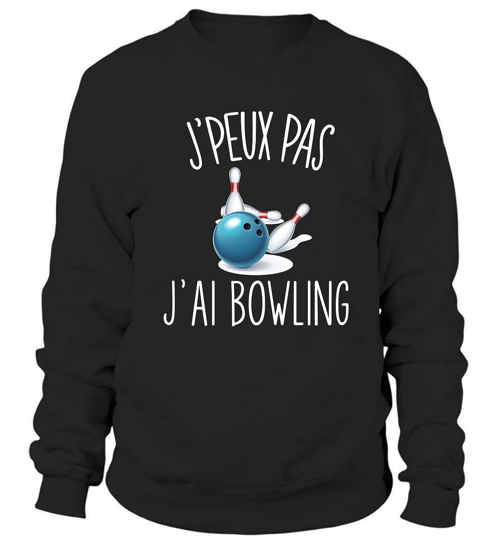 D/ésol/é Je Peux Pas Bowling Sweat Taille Unisexe Collection Sport Humour pour Tous Les Sportifs Passionn/és
