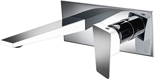 Dawn AB41 1472CPW Wall Mounted Single-lever Concealed Washbasin Mixer, Chrome White