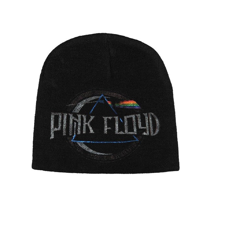 Pink Floyd Beanie Hat Cap Dark Side Of The Moon Album Logo Official New Black