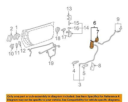 Amazon.com: GENERAL MOTORS 88956758 LOCK ASMFRT S D: Automotive