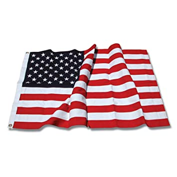 acb100e90a2d Amazon.com   US Flag Store Sewn Cotton American Flag