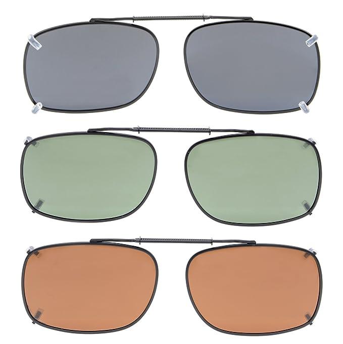 Eyekepper Gris/Marrón / G15 Lente 3-paquete de Clip-on gafas de sol polarizadas 54x37MM: Amazon.es: Ropa y accesorios