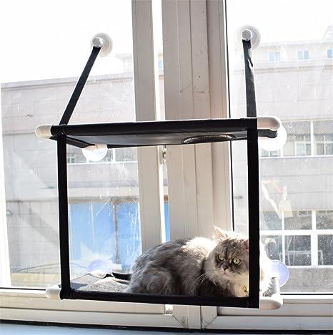 PLQ Gato Hamaca Gato Ventana Instalación Cama Sol Asiento Mascota Hamaca Invernadero Calamar Cojín Gato Hamaca