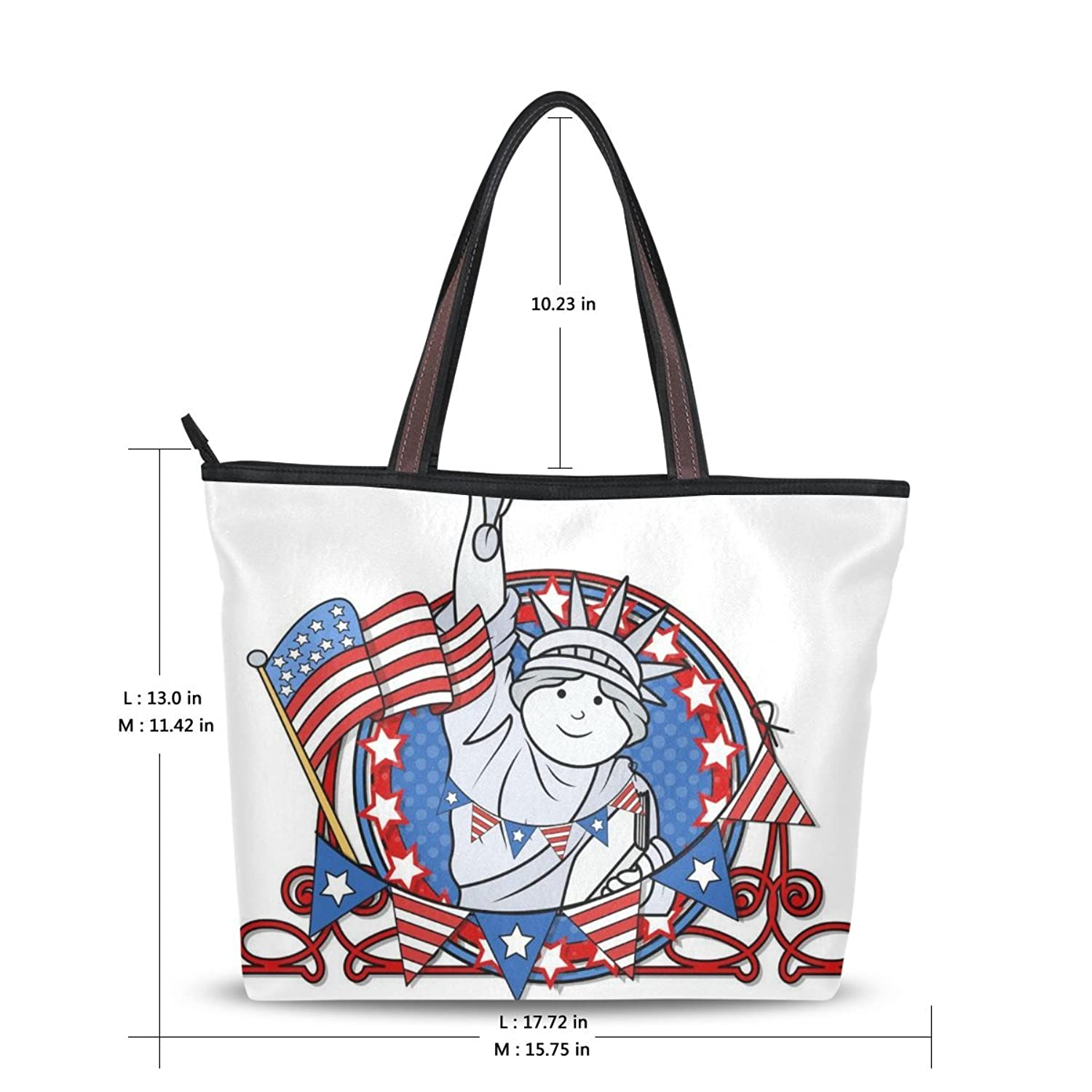WHBAG New Design Handbag For Women,USA American Flag,Shoulder Bags Tote Bag