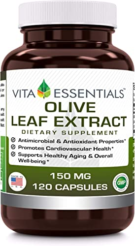 Vita Essentials Olive Leaf Extract Capsules, 150 Mg, 120 Count