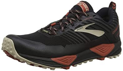 a50d7802e74b6 Brooks Men s Cascadia 13 GTX Black Red Tan 8 D US D (M