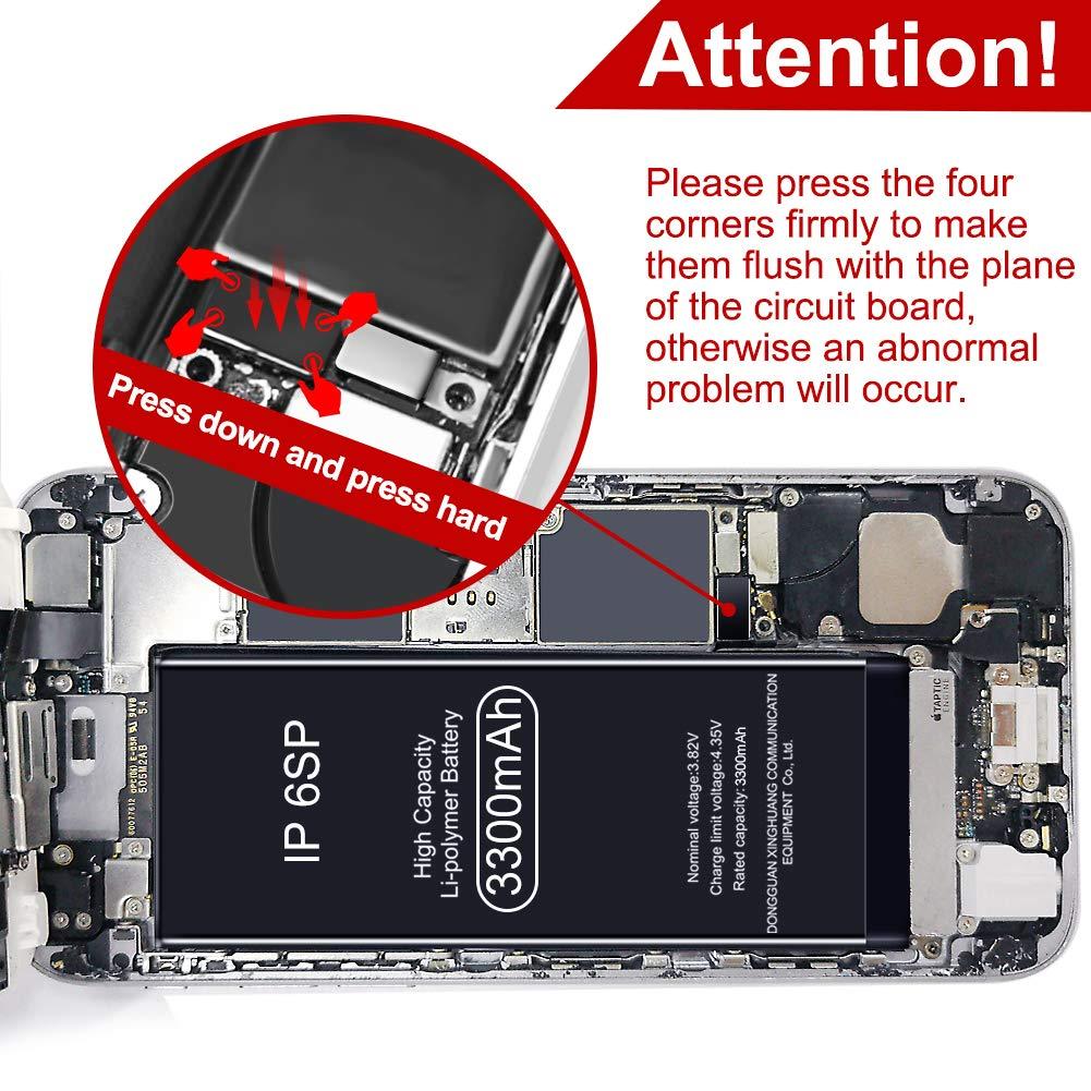 Vasea Bater/ía de 2280 mAh para iPhone 7,Bater/ía Recargable de Pol/ímero de Litio de Alta Capacidad con El Kit Completo de Herramientas para La Reparaci/ón Adhesivo e Instrucciones-Garant/ía de 24 Meses