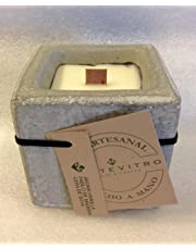 Vela aromatica, cera de soya, en Cubo concreto 3 X 3 aromatica artesanal - Monte Vitro