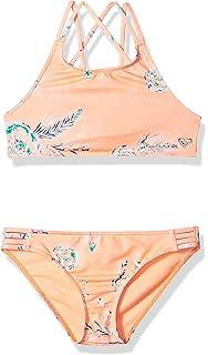 638dcf82c96 Amazon.com: Roxy Big Girls' in My Dreams Crop Swimsuit Set: Clothing