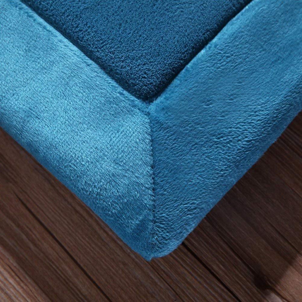 E.life Thickening Coral Velvet Carpet Children Crawling Blanket Soft Tatami Rugs Kids Non-Slip Enlarge Play Mat for Living Room,Baby/'s Bedroom,Drawing Room Blue, 100 * 200CM
