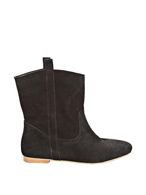 Springfield Botines Serraje Negro EU 37: Amazon.es: Zapatos y complementos
