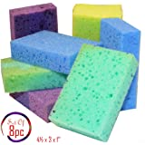 (Pack 8) All Surface Scrub Sponge, Non-Scratch Heavy Duty Pot Scrubber, Cleaning Sponge, Colored, Size: 4 1/4'' x 3'' x 1''