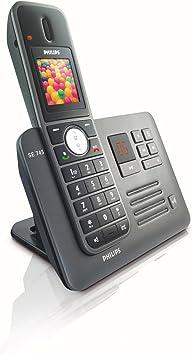 o2Philips SE7451B/02 - Teléfono inalámbrico DECT (con lector de tarjetas SIM, politonos, iluminación de pantalla y teclado), color negro [Importado de Alemania]: Amazon.es: Electrónica