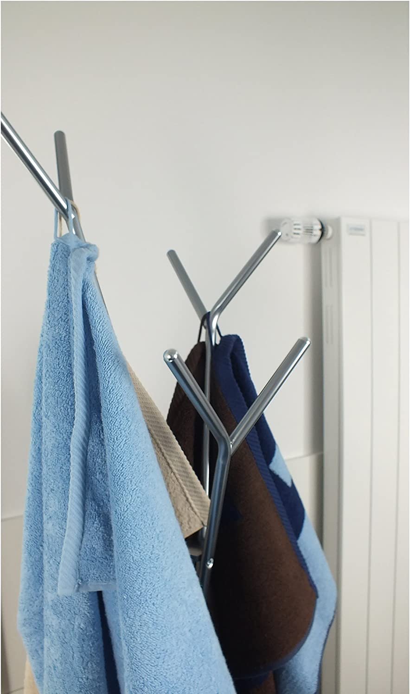 Kela Towel Holder Sinerio Collection Tree Style 68.3 Tall Metal Chrome 68.3 Tall Metal Chrome 22233