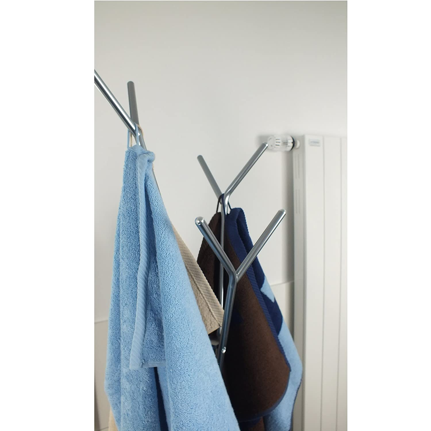 Amazon.com: Kela 22233 Towel Holder Sinerio Collection Metal Chrome ...