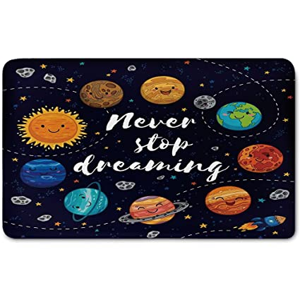 amazon com memory foam bath mat quote outer space planets and