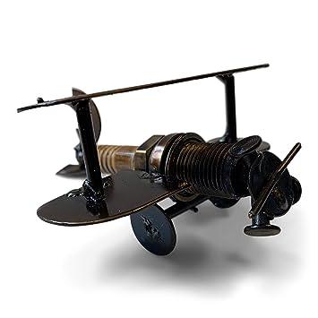 Lata reciclada avión modelo hecho de bujías – Comercio justo de México – Mini ...