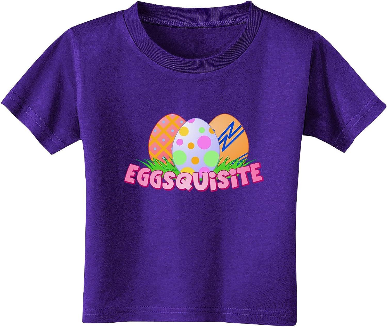 TOOLOUD Colorful Easter Egg Toddler T-Shirt Dark