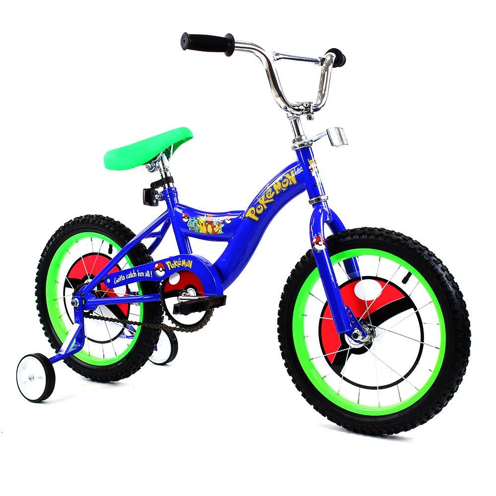 Kid's 16 inch Bike with Pokemon Detailing (Blue)