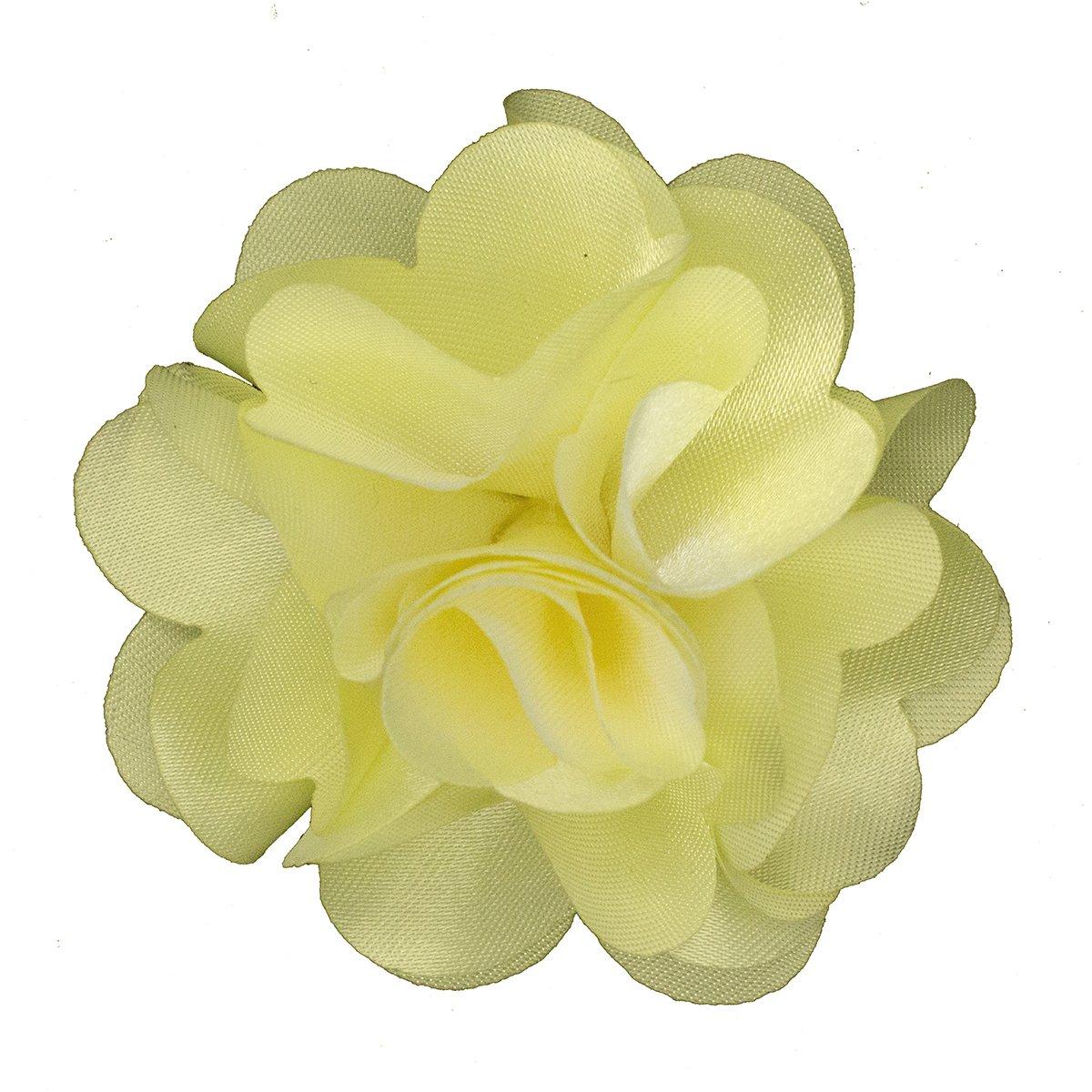 Mens Lapel Flower . Solid Ivory