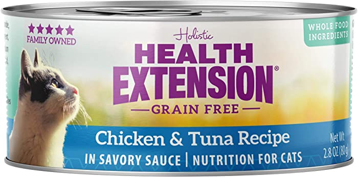 Health Extension Grain Free Chicken & Tuna Recipe Canned Wet Cat Food - (24) 2.8 Oz Cans