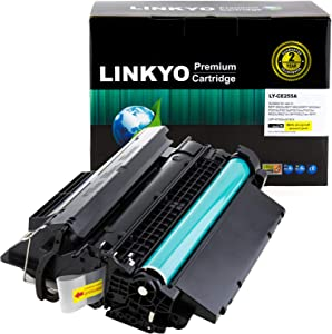 LINKYO Compatible Toner Cartridge Replacement for HP 55A CE255A (Black)