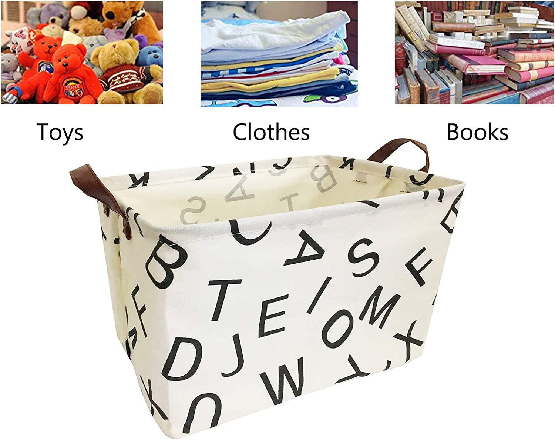 Kinderzimmer Kinderzimmer Spielzeugkorb gro/ß Stoff W/äschekorb Alphabet Aufbewahrungsk/örbe Aufbewahrungskorb f/ür Babyspielzeug faltbar