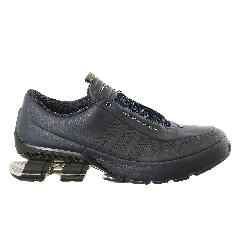 Porsche Design Adidas Bounce S4 Leather Driving Fashion Running Sneaker - Navy/Granite - Mens - 9.5