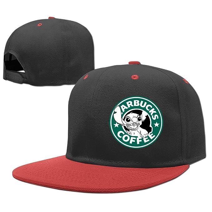 Kids Lilo And Stitch Starbucks Coffee Cool Caps Hip-Hop Snapback Hat ... 82c86ee97a4