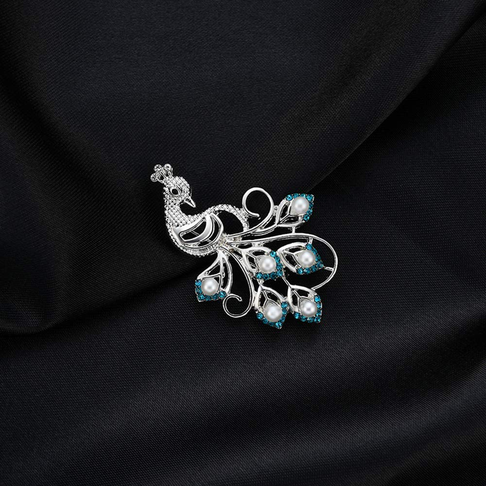 Ogquaton Broche Rhineston Premium Broche Paon Broche F/ête Saint Valentin Broche Collier Bijoux Cadeau Durable et Utile